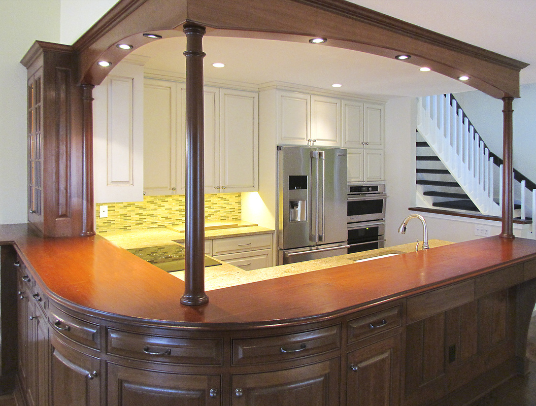 Kitchen Dining Room Cabinetry And Bar For Condominium